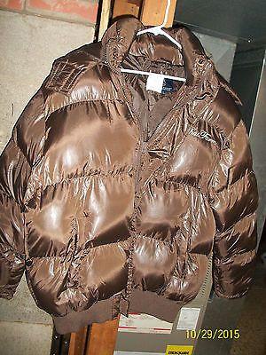 Men's Brown Bubble Coat Size Large | Products | Pinterest | Coats ...