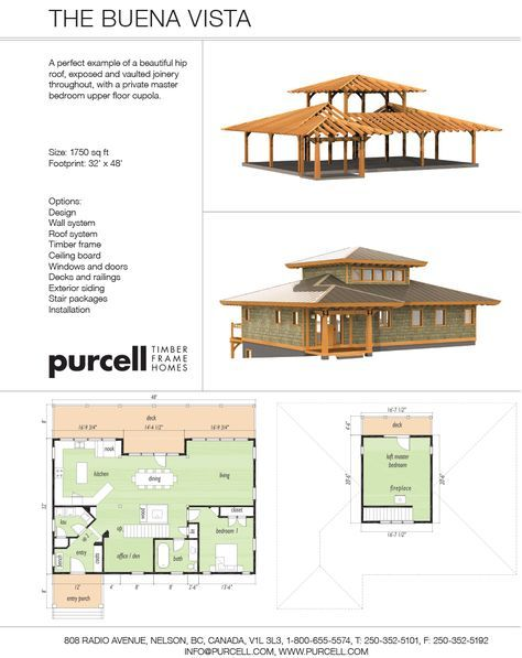 Purcell Timber Frames - The Precrafted Home Company - The Buena Vista