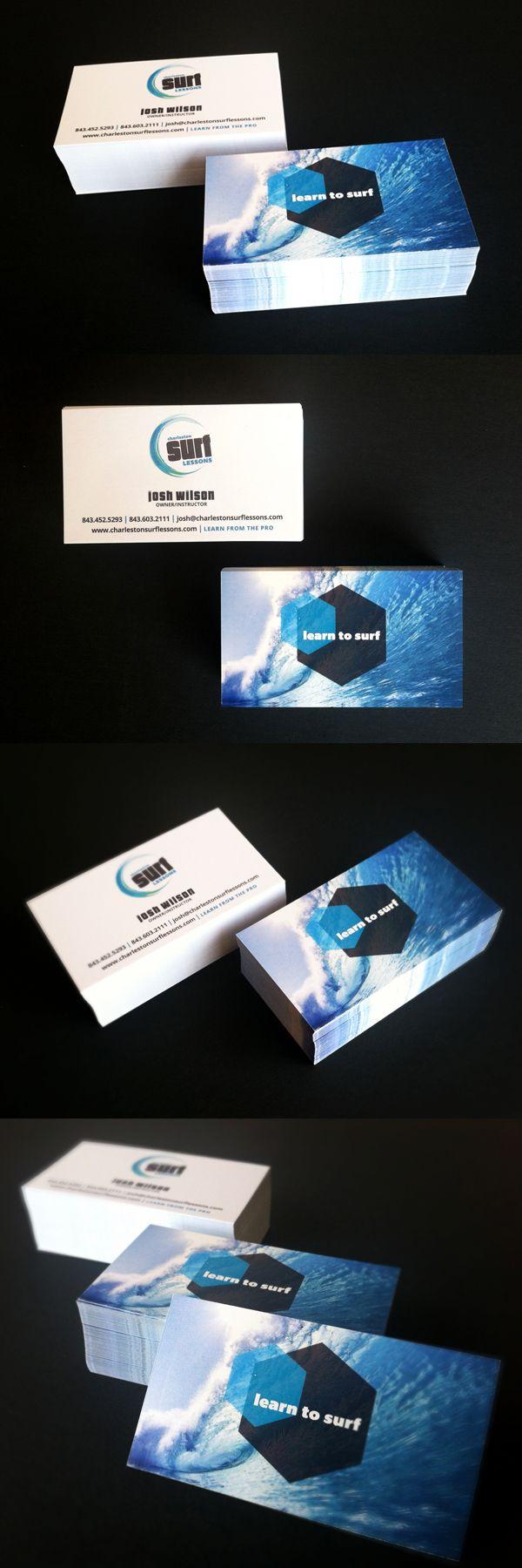 Charleston Surf Lessons - DesAutels Designs | business card design | www.charlestonsurflessons.com