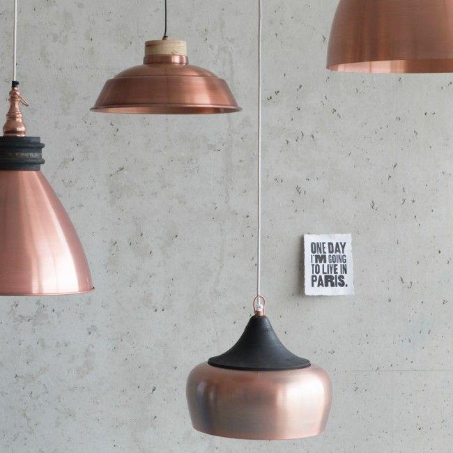 Reuilly hanglamp antiek koper
