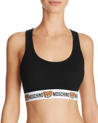 MOSCHINO Bear Logo Bralette #162Za400359790555. #moschino #cloth ##162za400359790555