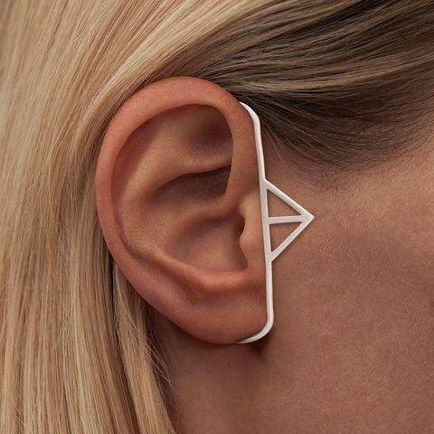 FEARLESS PYRAMID · EAR PIECE · SILVER