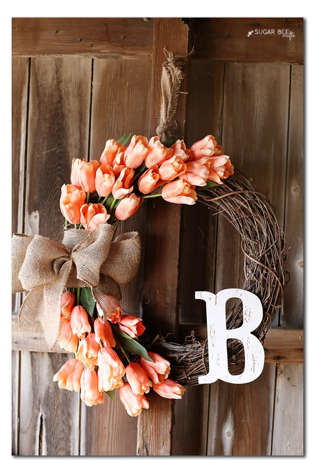 How To Make A Spring Tulip Wreath
