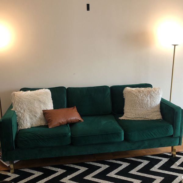 Emerald Green Sofa For In New York, Used Furniture New York City
