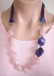 CLICK HERE TO BUY ON ETSY:  https://www.etsy.com/listing/108588320/a-favorite-ashira-yummy-candy-pink  A FAVORITE - Ashira Yummy Candy Pink Quartz with Faceted Purple Brazilian Agate - LUSCIOUS - Trish Regan - $255