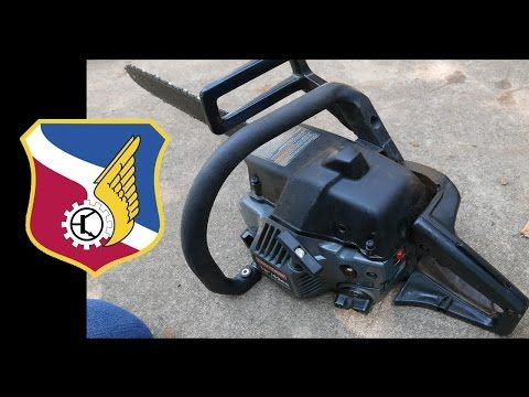 Sears Craftsman Chainsaw fuel line replacement - 2 stroke engine poulan - YouTube