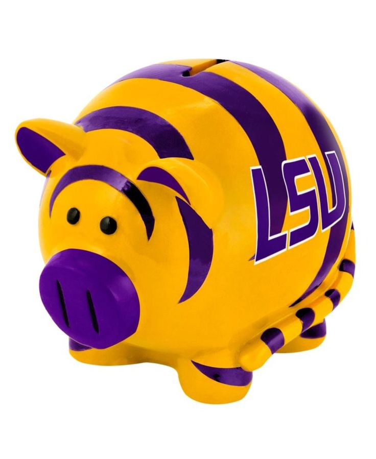 Forever Collectibles Lsu Tigers Mini Piggy Bank · Lsu TigersBedroom IdeasGift  ...