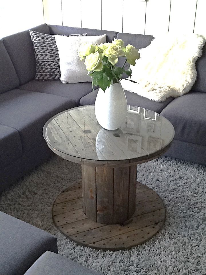 Diy cable drum table great ideas pinterest cable for Mesas industriales
