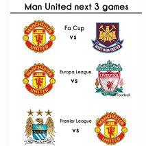 3 trận khó khăn tiếp theo của Man Untid.