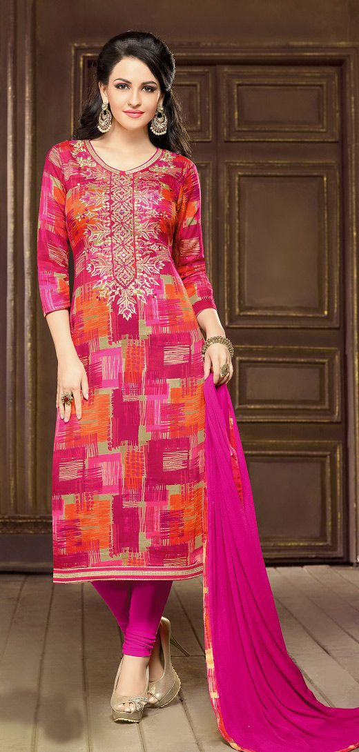 Buy Online Printed Churidar Suit or shuits Pink Color, Cotton material, Nazneen Dupattas, Party Wear, Casual wear, Summer Wear, Festival Wear, kitty party wear for women, Churidar Suits, Churidar suit, shuits for women. We have large range of Printed Cotton Churidar suits in our website with the best pricing and unique designs shipping to (UK, USA, India, Germany, UAE, Canada, Singapore, Australia, Mauritius, New Zealand) world wide.