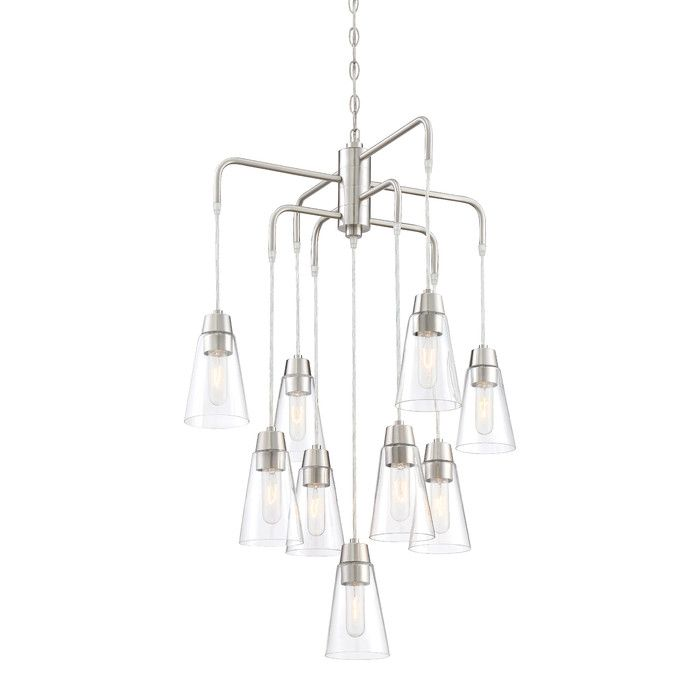 Found it at allmodern echo 9 light shaded chandelier