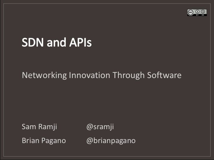 API Management for Software Defined Network (SDN)