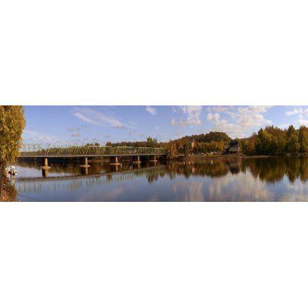 New Hope-Lambertville Bridge Delaware River New Hope Bucks County Pennsylvania USA Canvas Art - Panoramic Images (27 x 9)