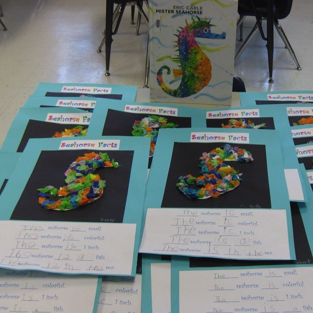 mister seahorse writing activities