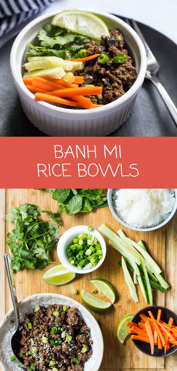 These build-your-own banh mi-inspired rice bowls are the perfect family weeknight meal   www.kiwiandbean.com