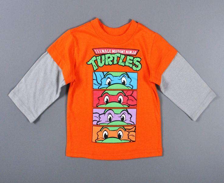 Baby boys t shirt 2016 autumn Teenage Mutant Ninja Turtles Cartoon 2016 baby t-shirts for boy 2016 long sleeve Baby boys t shirt