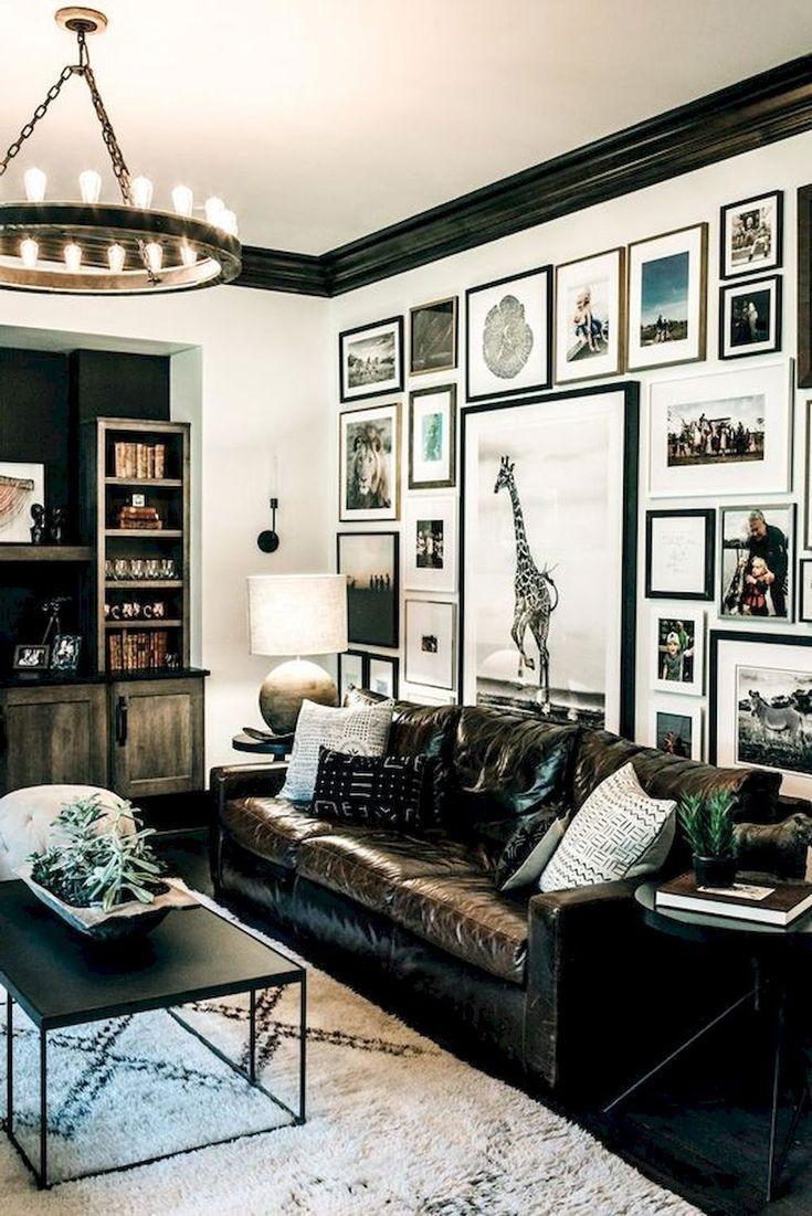 50 moderne zeitgenössische Schwarz-Weiß-Wohnzimmer (5) | Wohnzimmer ...