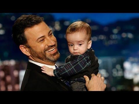 Jimmy Kimmel and his son, Billy, both charmed Kimmel's viewers Monday night