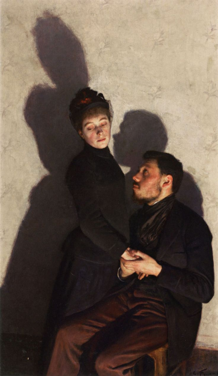Emile Friant - Ombres Portées (Cast Shadows), oil on canvas, 26 1/2 inches x 3'9.98 inches, 1891
