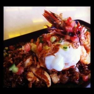 King Prawn Nasi Goreng, Chicken, Soft Egg, Fried Shallot, Cucumber Salsa: http://ow.ly/bapqs
