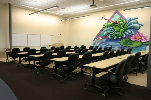 The training room for corporate meetings