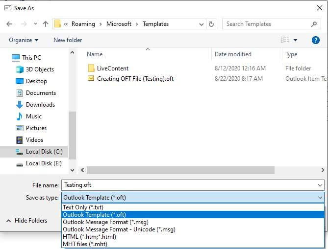Know How To Create Oft File In Outlook Send Email Using Oft Template Outlook Templates Music Pictures
