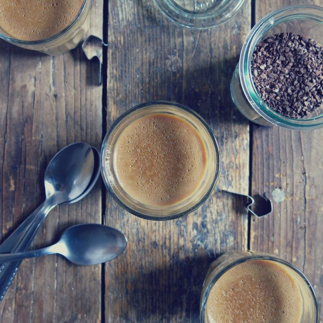 Crème au café - Artichaut et cerise noire