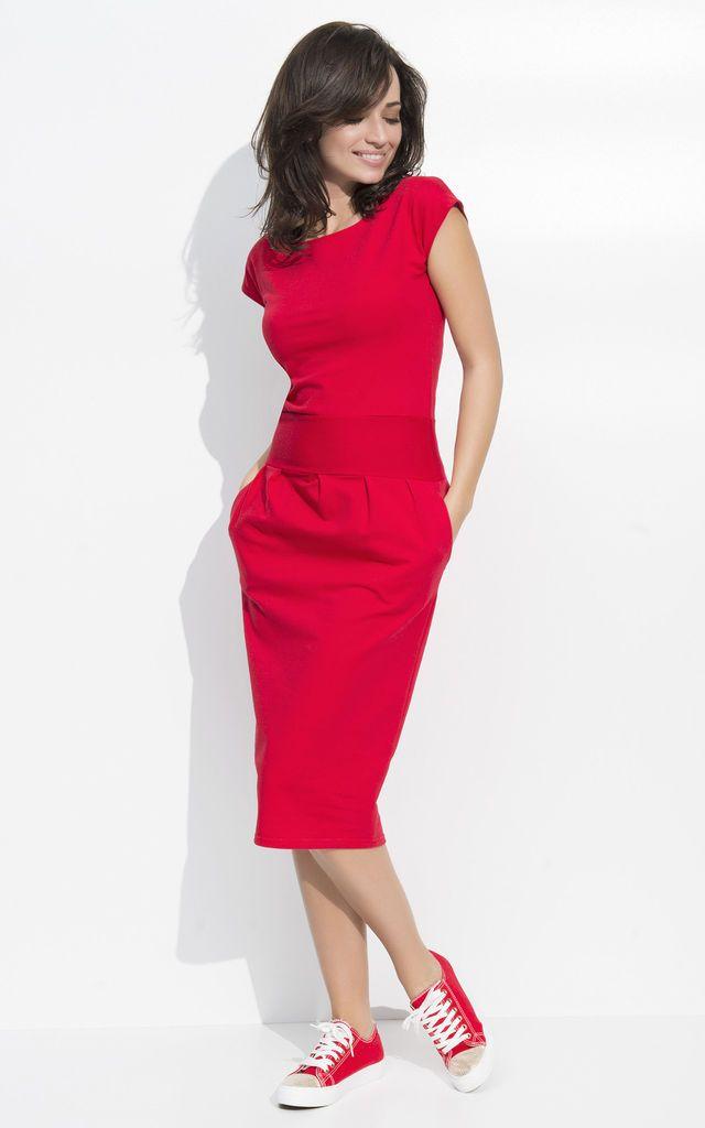 Silkfred red dress jennifer