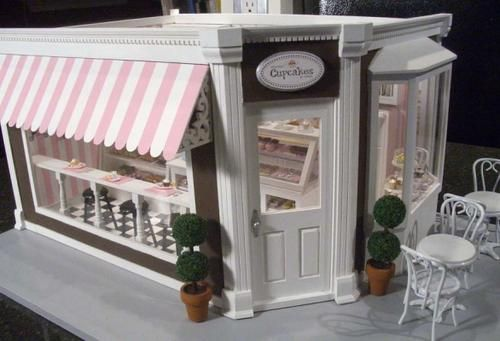 This is a dollhouse,BUT, if I could find a corner shop, this is exactly how I would want it to look .