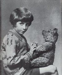 Christopher Robin Milne and Pooh (Marcus Adams, 1928)