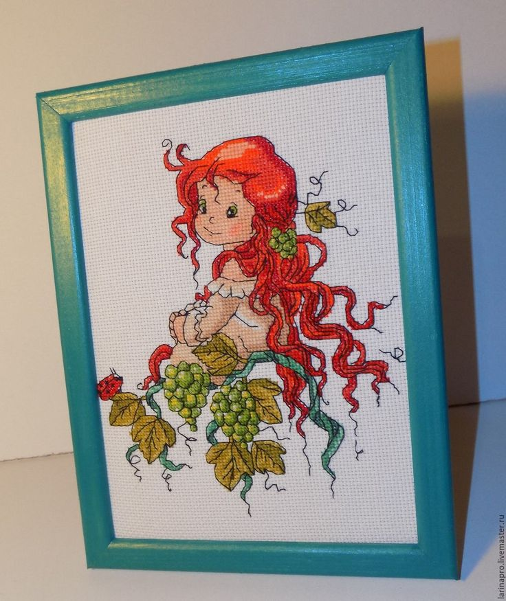 Купить Рыжуля - комбинированный, подарок девочке, в детскую комнату, картина, картина в подарок, Картина для детской