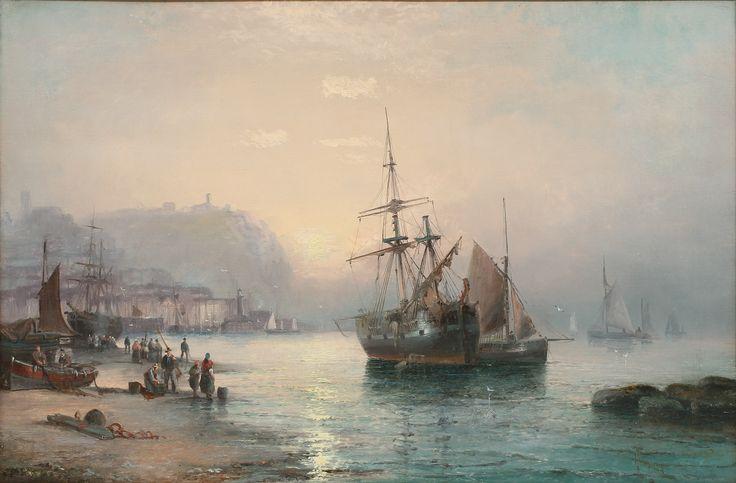 OIDENTIFIERAD KONSTNÄR. Kustbild, olja på duk, 1800-tal, signerad Thornley.