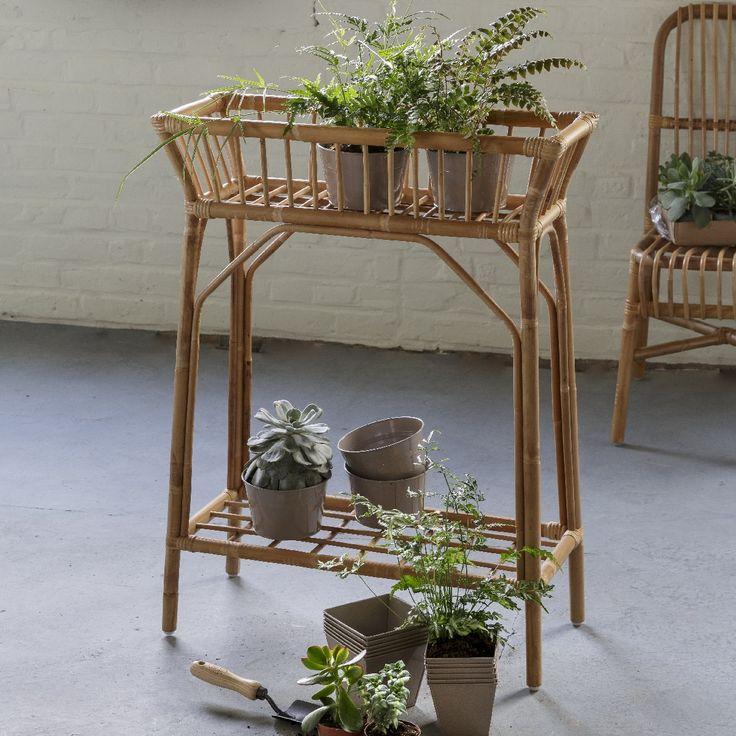 Jardinière haute en rotin KOK Maison