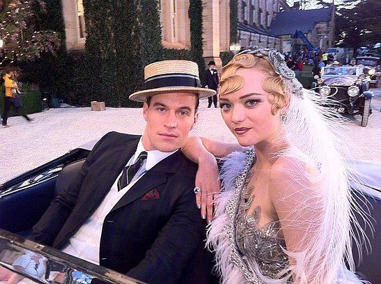 Gemma Ward has been captured on set — and in costume — of The Great Gatsby. She is playing Catherine, sister of Myrtle Wilson