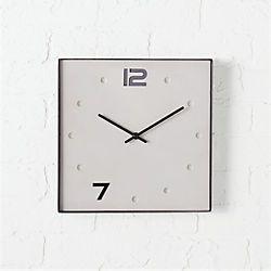 union cement and black nickel square clock