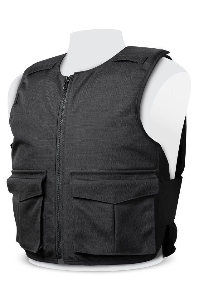 Stab Resistant Vest – Overt -  Black - KR1 or NIJ III