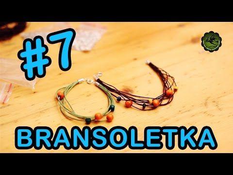 Ozdoby #7 - bransoletka ze sznurków - YouTube