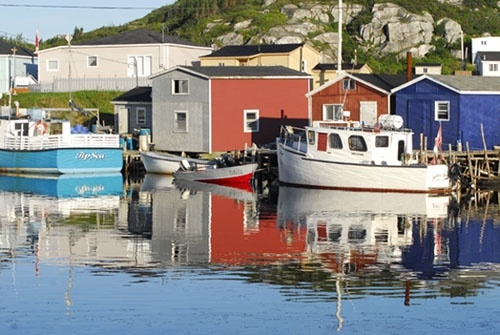 A view of the harbour in Rose Blanche, Newfoundland