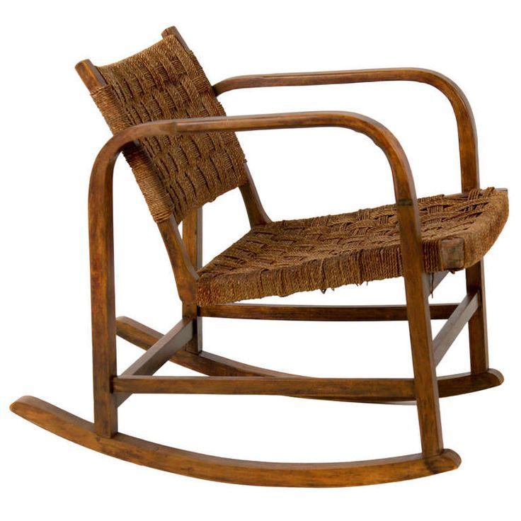 Rare Eskil Sundahl Rocker Chair, Sweden. Modern Rocking ChairsRockersSweden