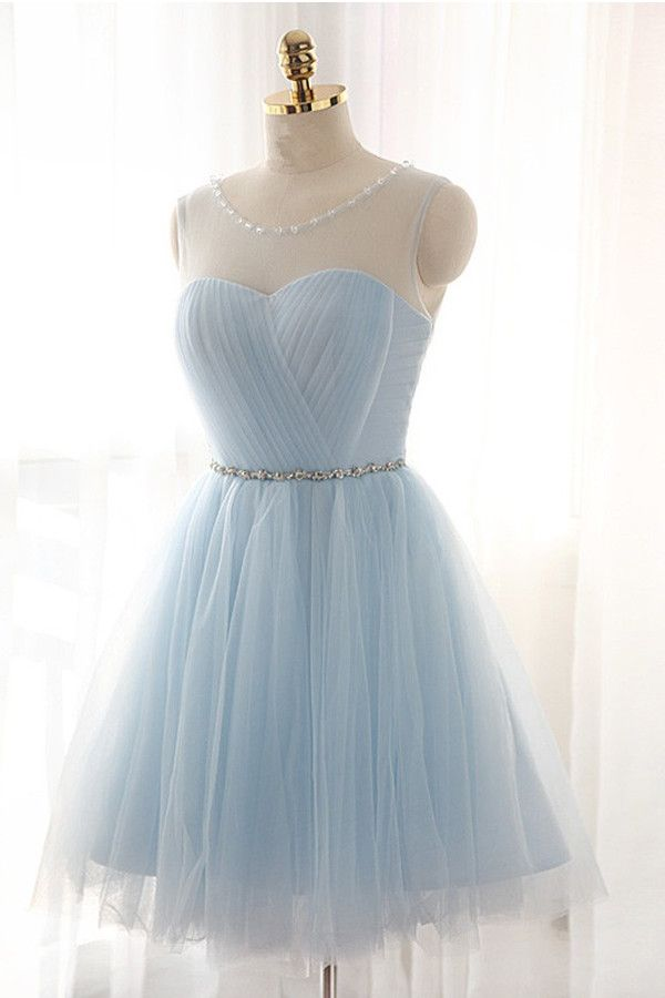 Charming Tulle Short Prom Dresses Homecoming Dresses PG019