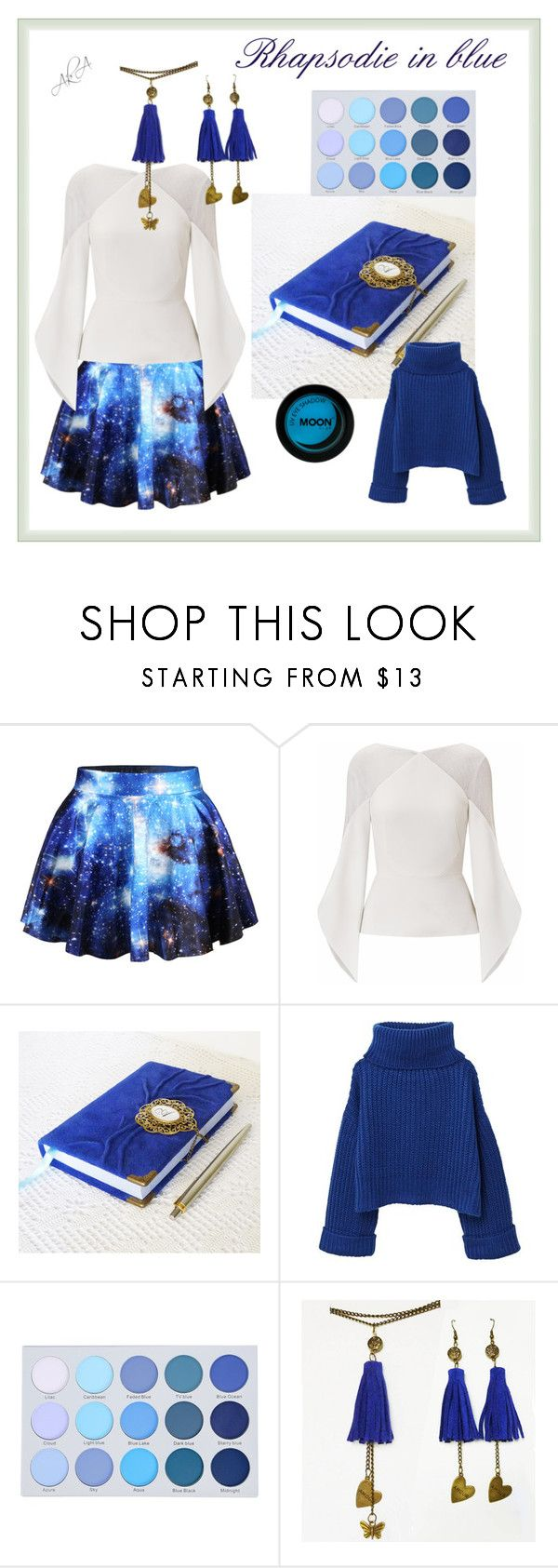 Blue accessories by annakis on Polyvore featuring MANGO, Roland Mouret and WithChic