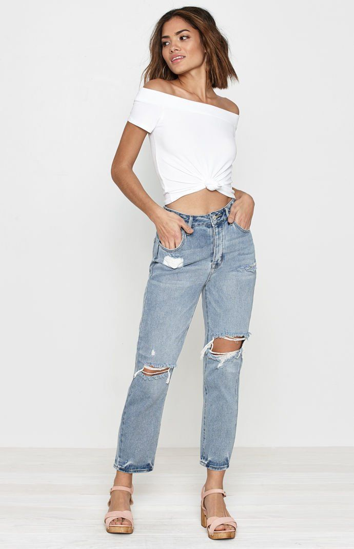 20c9d20d285a Favorite Blue Mom Jeans in 2019 | summer lovin' | Mom jeans, Jeans ...