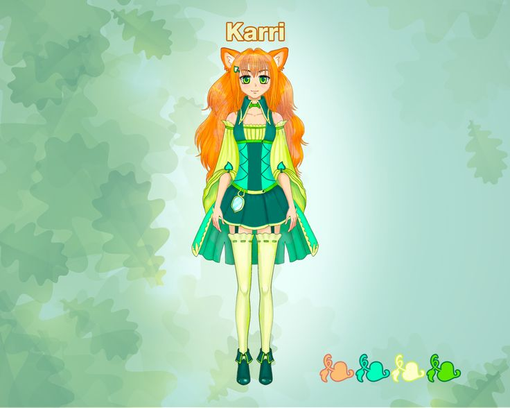 Now we would like to introduce our fox's friend - a girl named Karri.