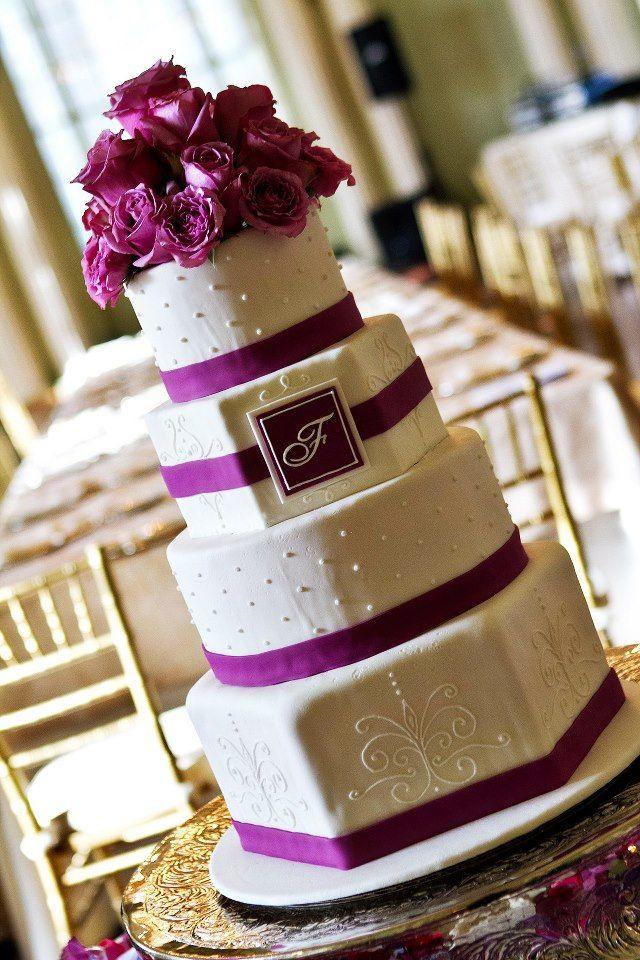 Hot Pink Wedding Cake inspiration - Cake: DIVA OF CAKE