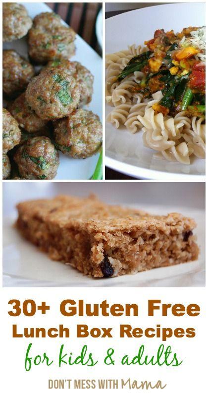 30+ Gluten Free Lunch Box Recipes #glutenfree #recipes - DontMesswithMama.com