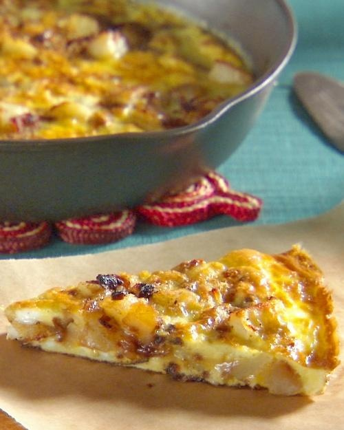 Spanish Frittata Recipe -- equally delicious when served warm or at room temperature