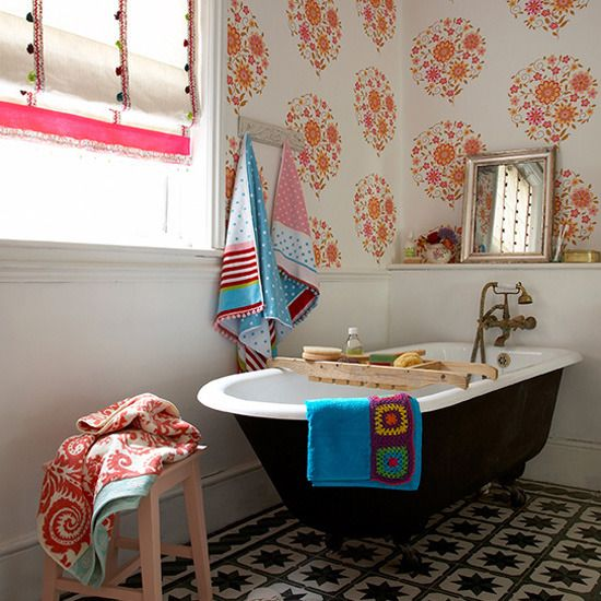 best 25 eclectic tile ideas on pinterest bathrooms family bathroom and eclectic lighting hardware - Eclectic Bathroom Interior
