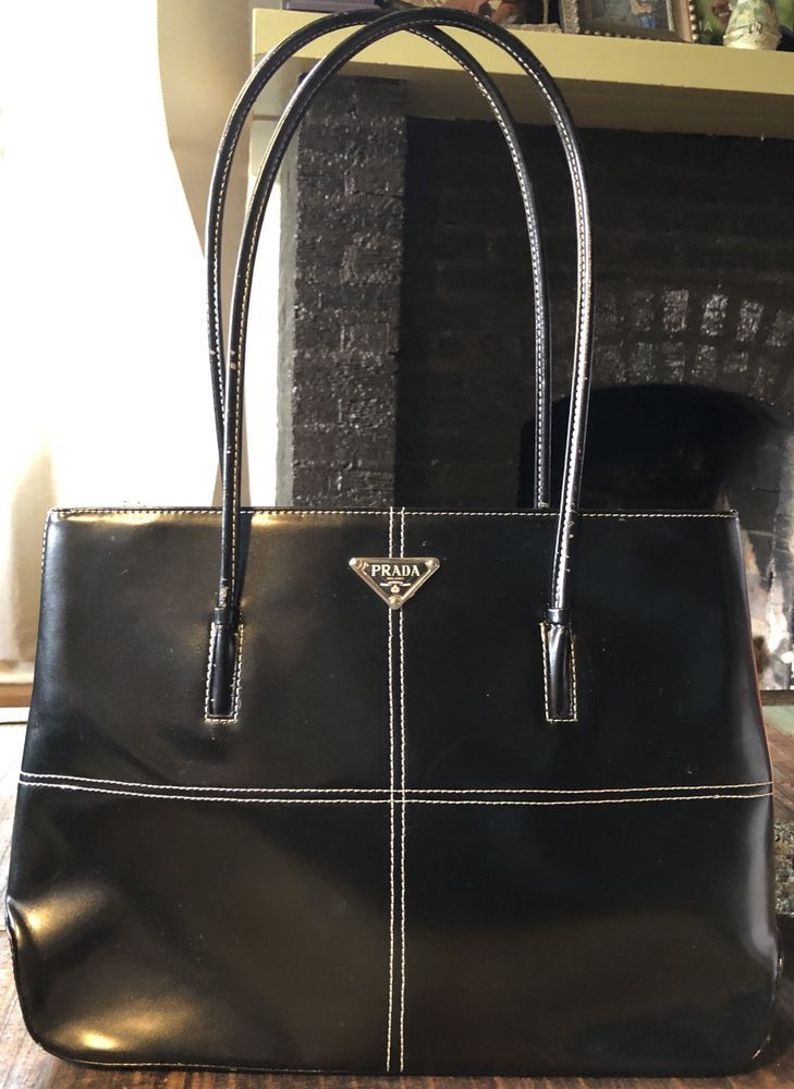 "8522e9e9e8cb68 Black Purse ""Prada""@ebay @pinterest #shoulder #purse #money #fashion #sale"