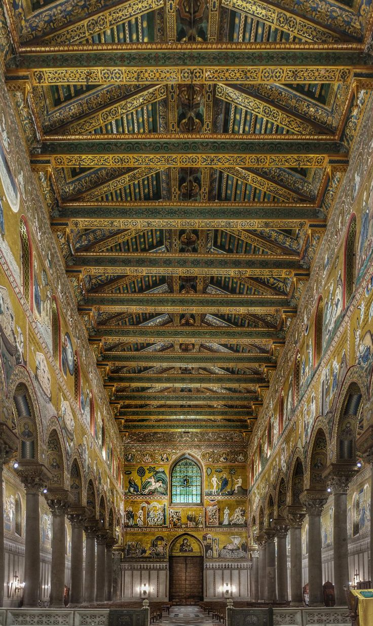 Monreale Cathedral, Sicily, Italy built 1172