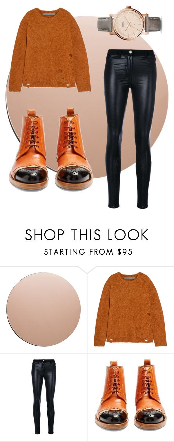 """""""Copper"""" by crafty-fox on Polyvore featuring House Doctor, Raquel Allegra, Versace, Maison Margiela and FOSSIL"""